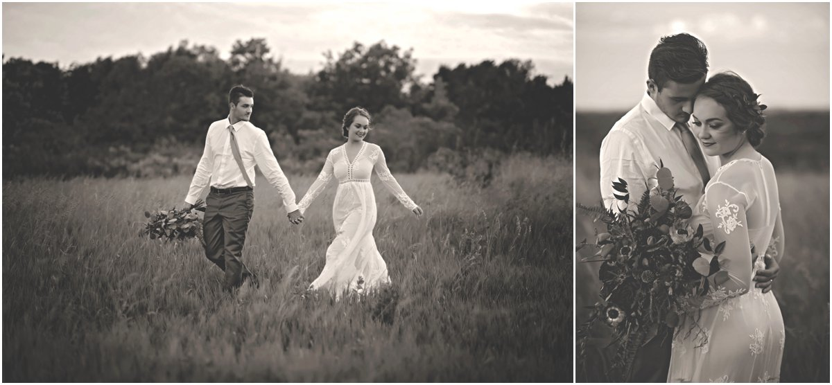 no frills bohemian wedding portraits