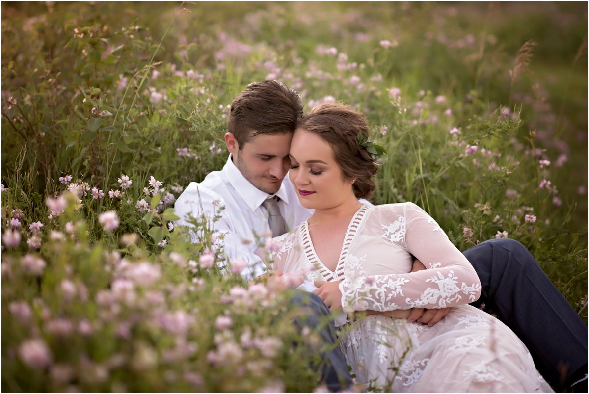sweet portraits in purple wildflowers