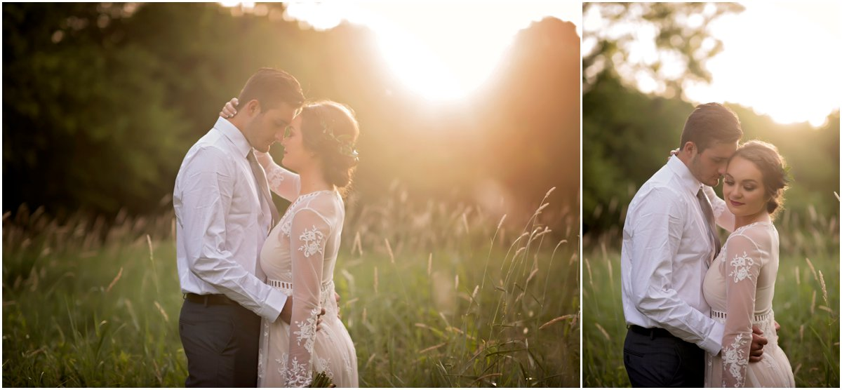 relaxed bohemian inspired wedding portraits