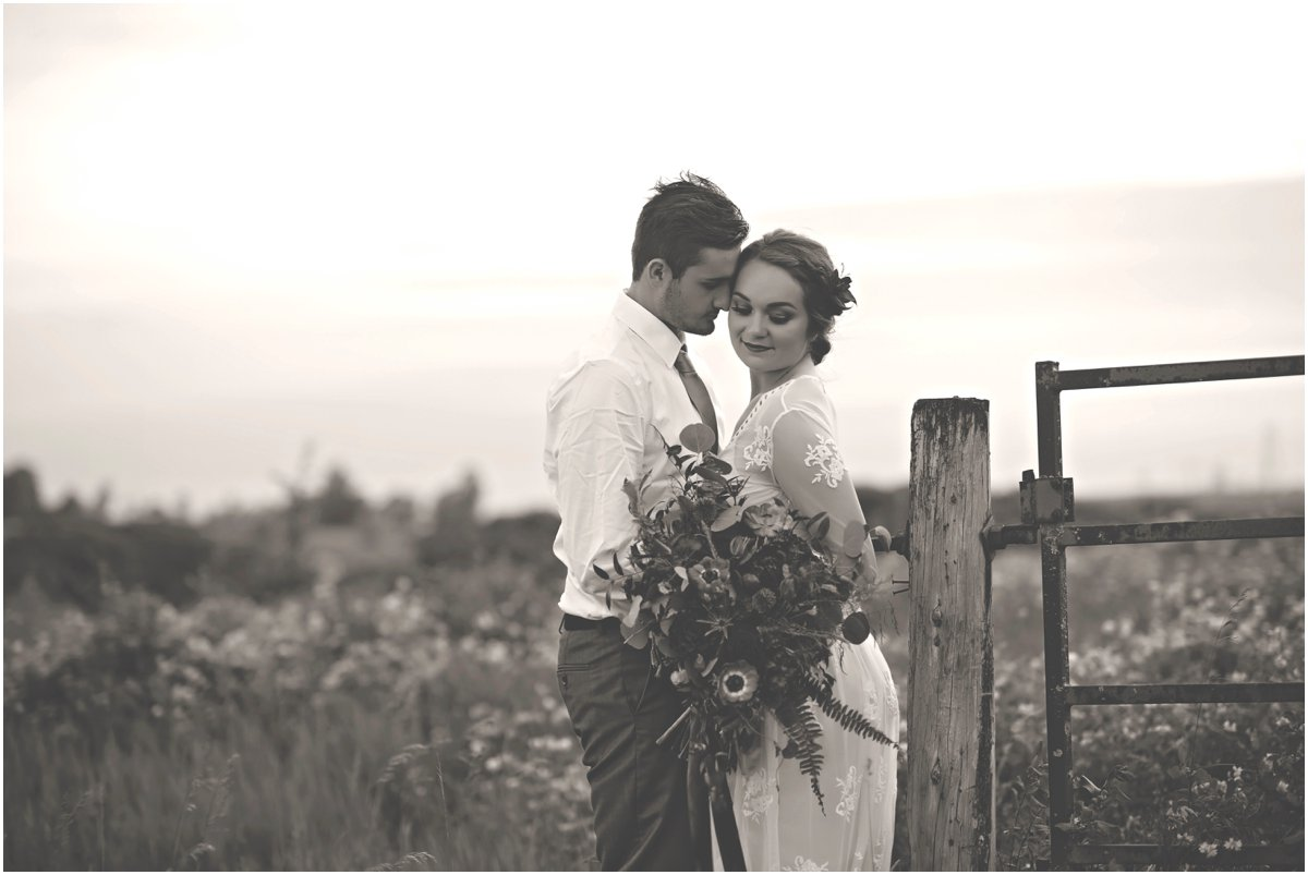 boho wedding portraits on a prairie