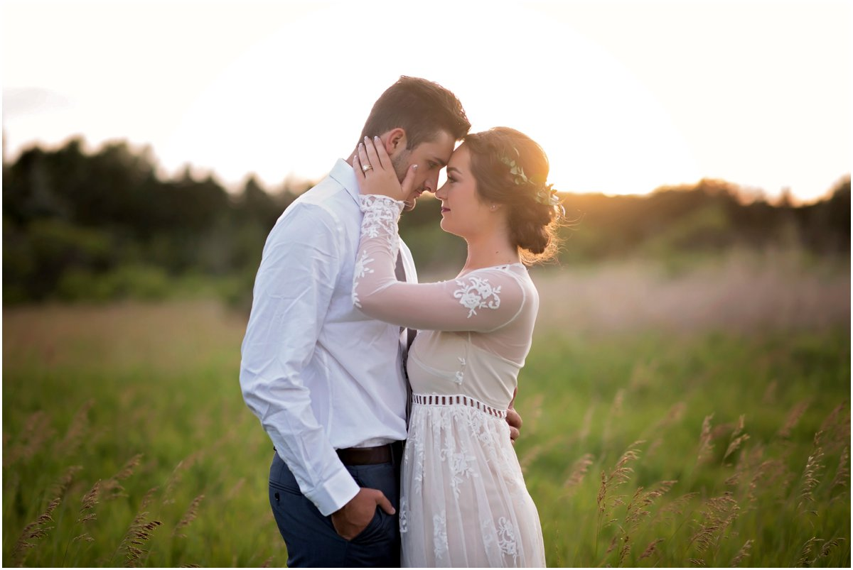 sunset boho wedding portraits