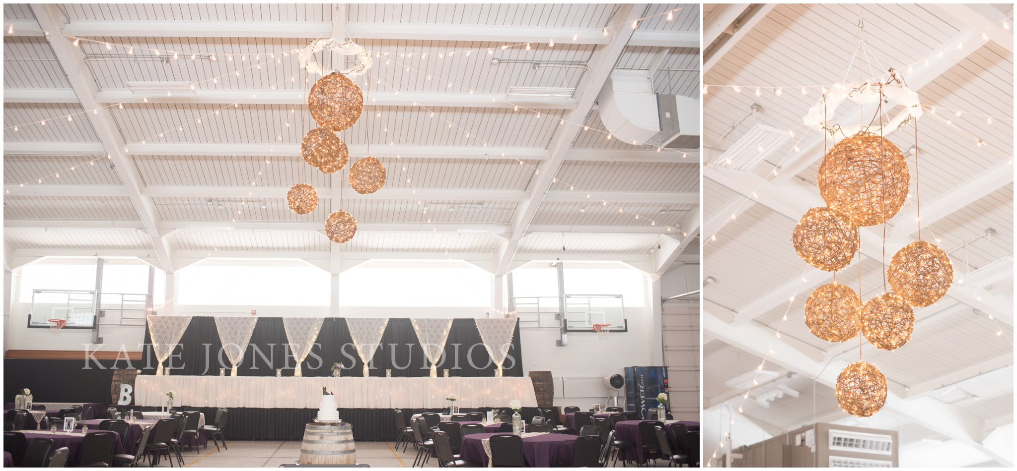 minimal lavender violet and gold reception