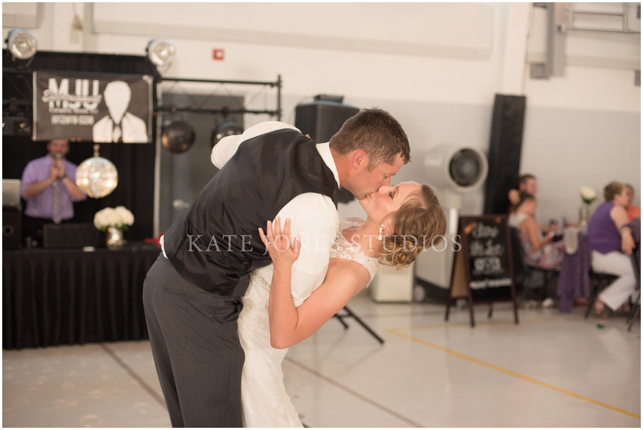 first dance bride and groom kiss