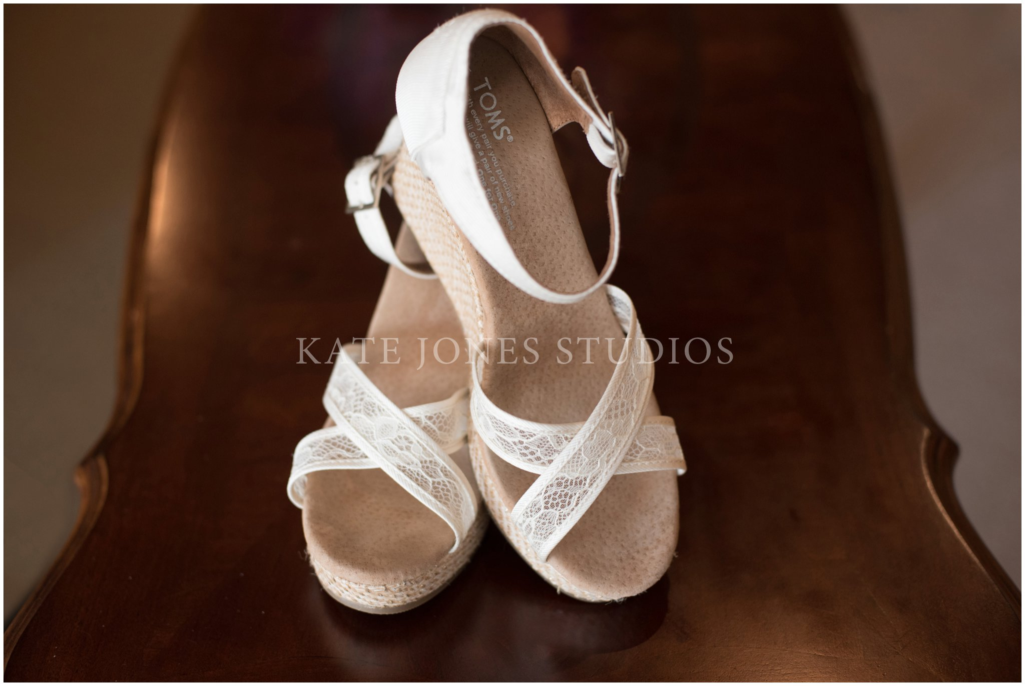 toms cream lace bridal wedges