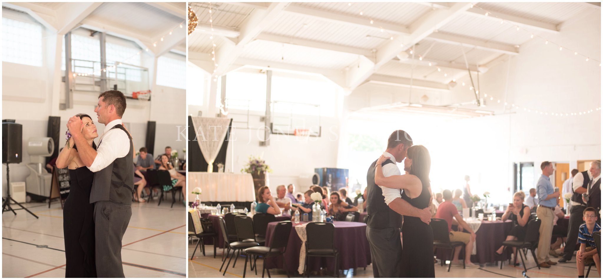 mother son dance at summer wedding