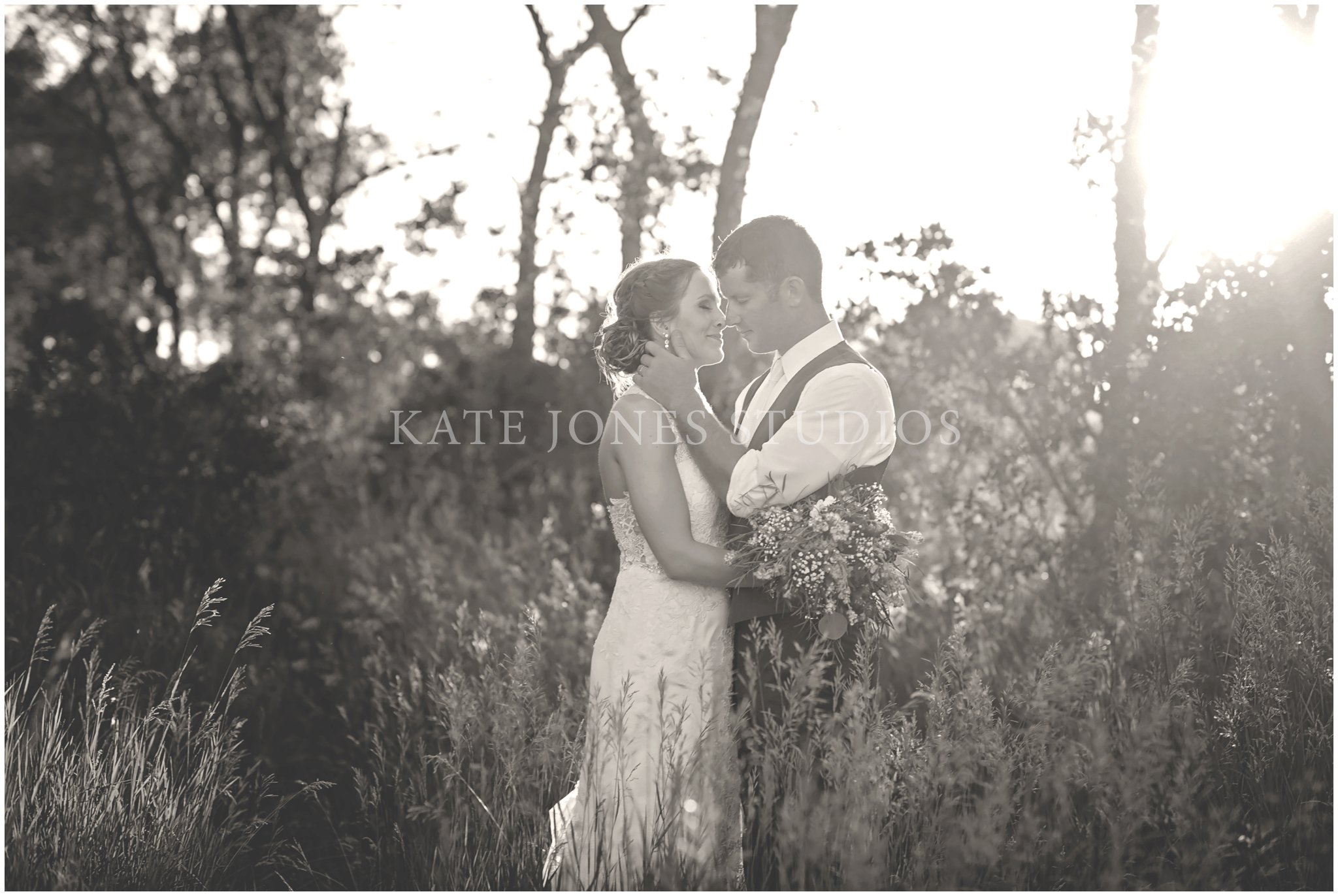 sunset summer wedding portraits
