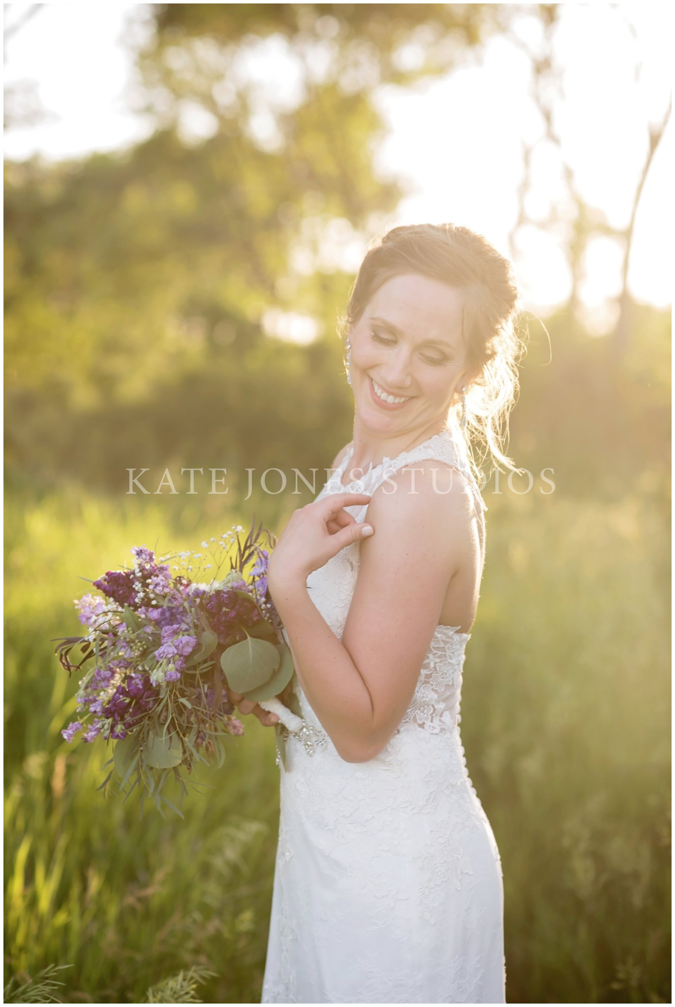 violet lavender summer wedding