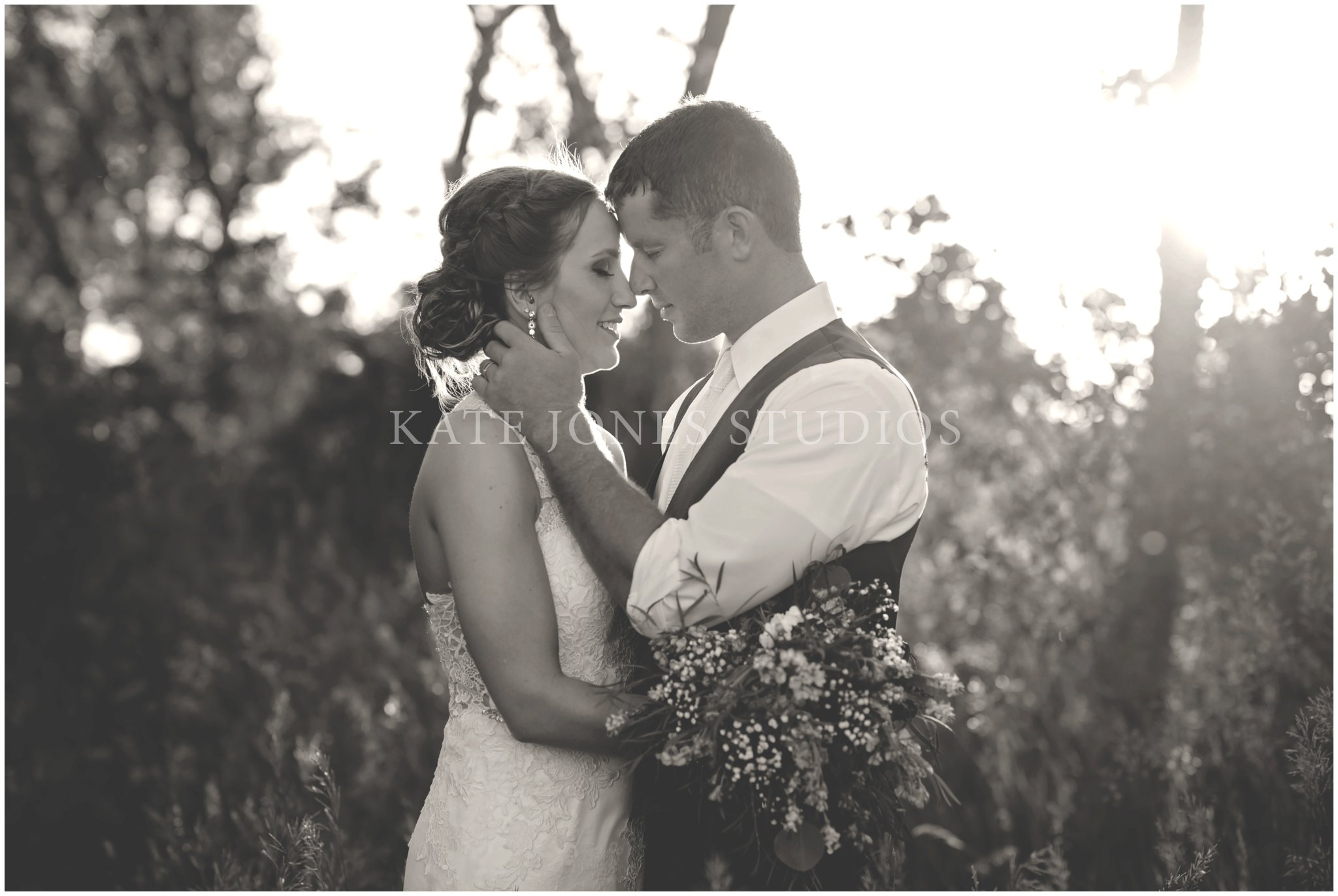 violet lavender summer wedding portraits