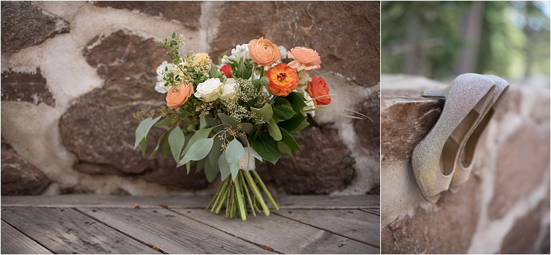 ivory and peach baby's breath bridal bouquet
