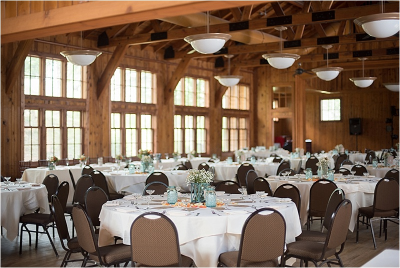 sylvan lake wedding reception