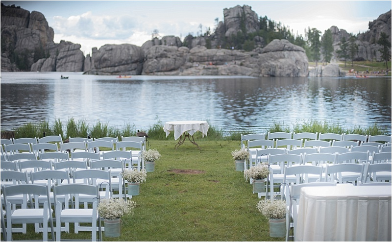 sylvan lake outdoor wedding ceremony