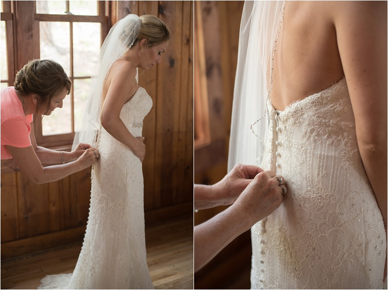 lace strapless ivory wedding gown