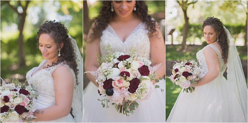 pink ivory burgundy spring bridal bouquet