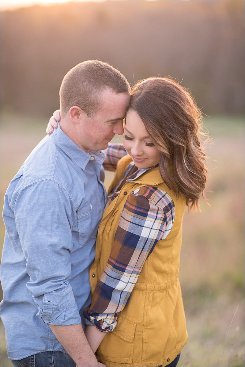 Plaid outdoor engagement