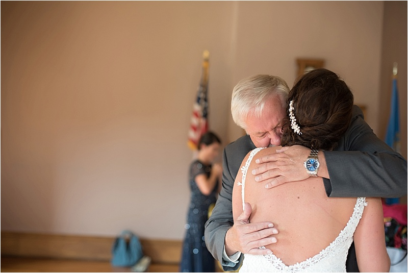 emotional first look with father of the bride