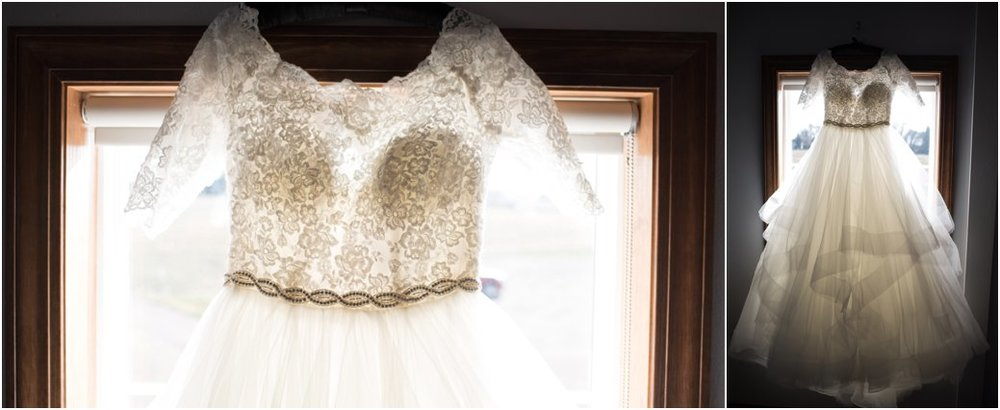 lace boatneck 3/4 sleeved wedding ballgown dress