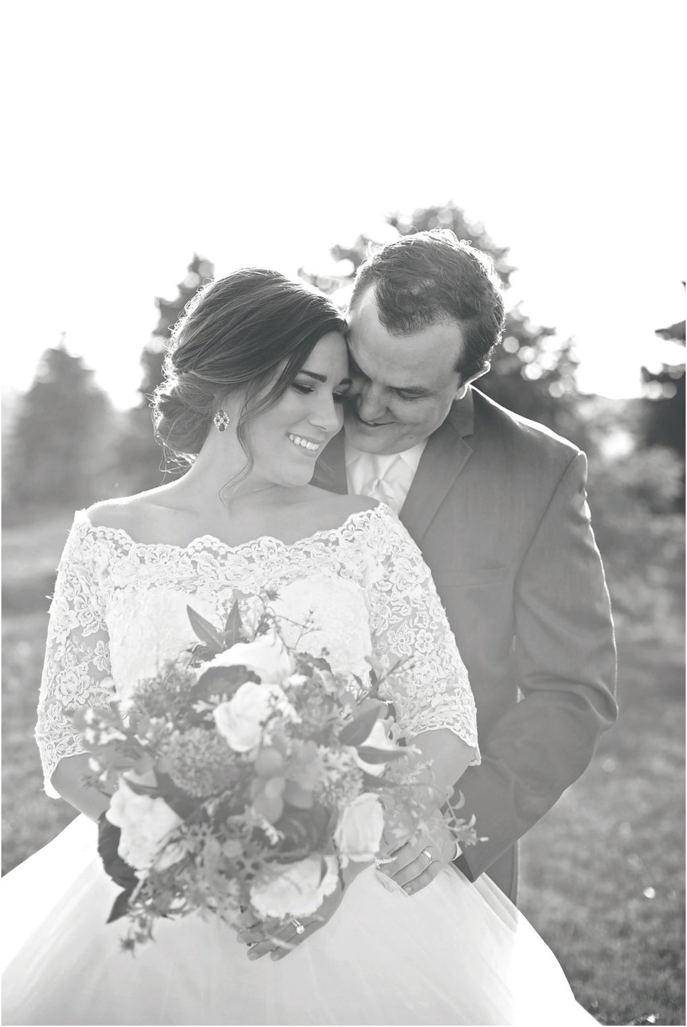 emotional black and white bridal portraits
