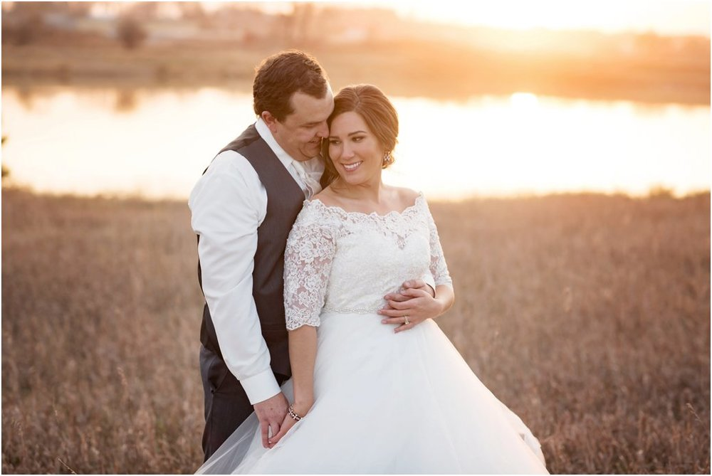 sunset bridal session at lake