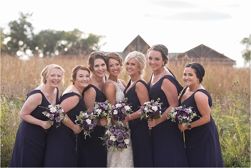 plum bridesmaid dresses with purple florals