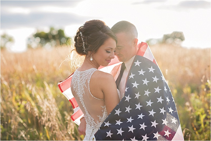 american flag wedding portraits