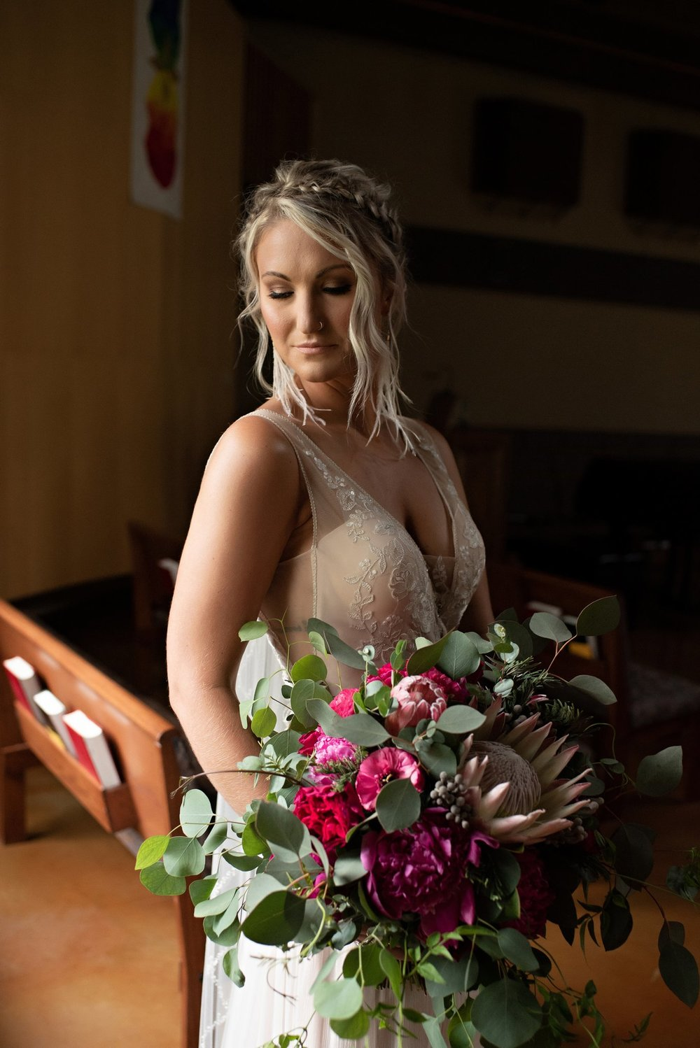 boho chic bride portraits
