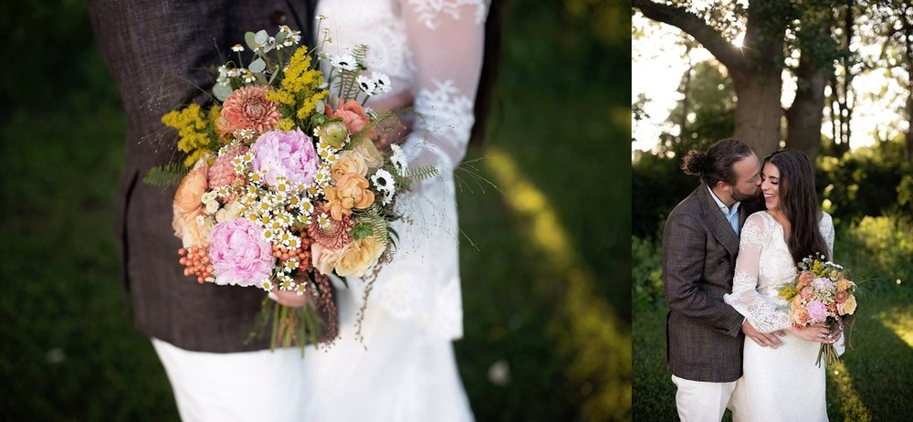wildflower inspired wedding bouquet