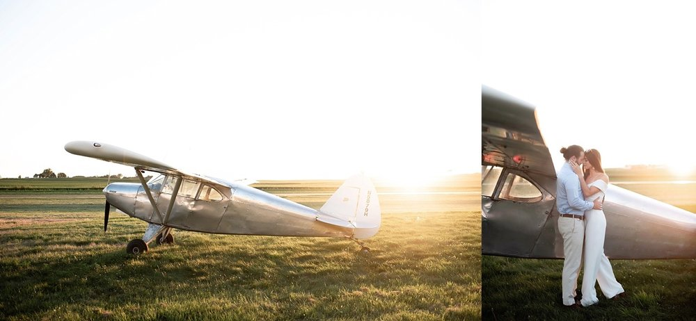 piper airplane vintage 70s inspired wedding styled session