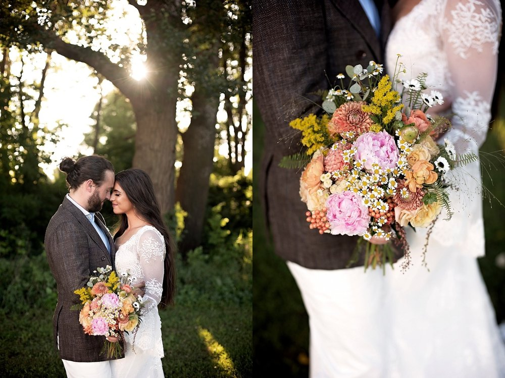 modern 70s wedding styled shoot