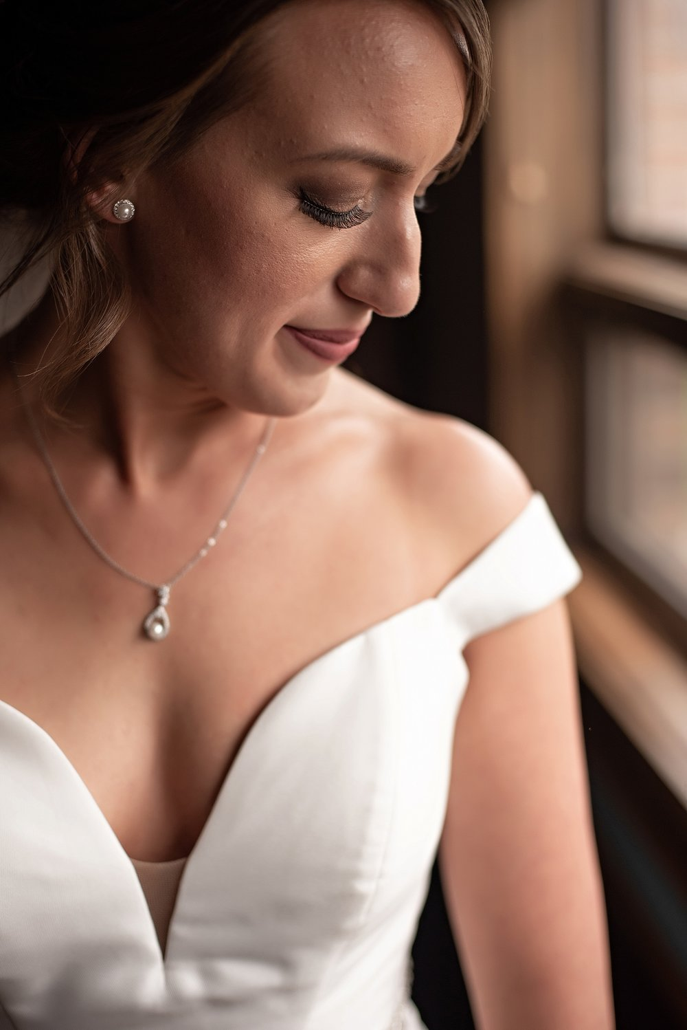 intimate bridal portrait