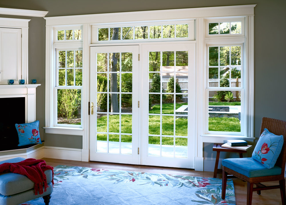 JELD-WEN French door, double hung windows and transoms