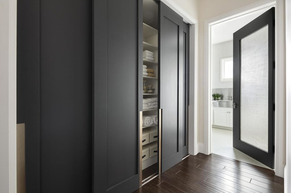 TRUSTILE modern closet doors with custom pulls