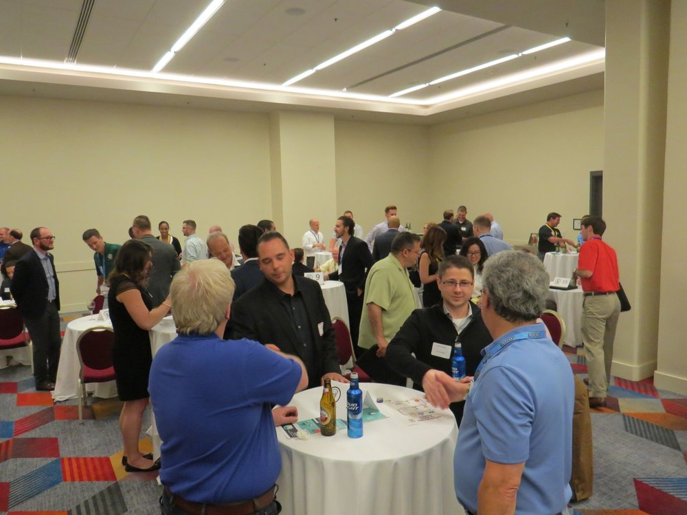"Young Fastener Professionals' ""Speed Networking"" in Las Vegas, NV.  Photo courtesy of Link Magazine."