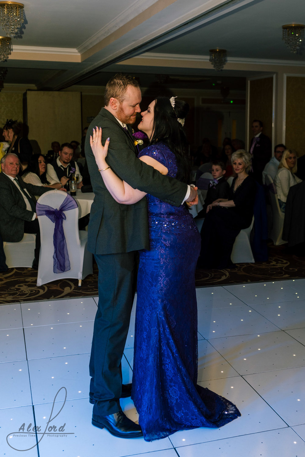 bride and groom have their first dance in the richmond hotel liverpool
