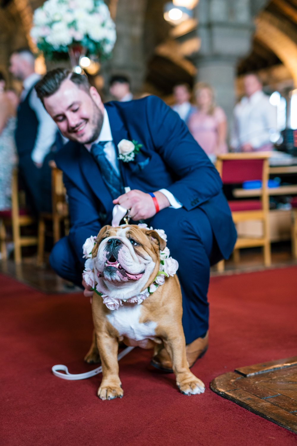the dog is part of the wedding ceremony