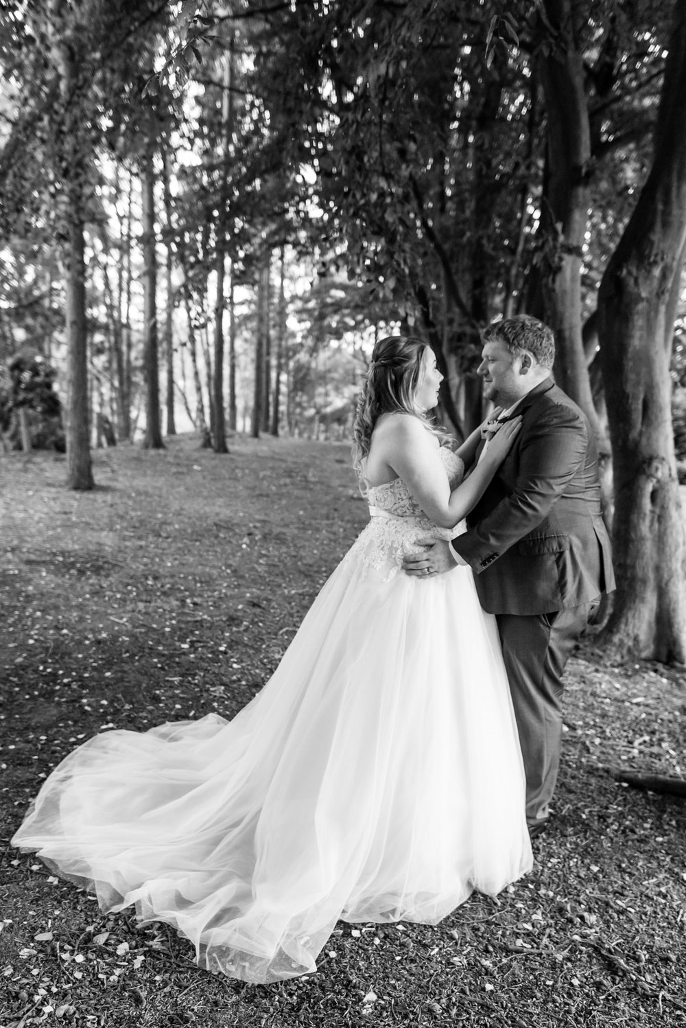 bride and groom portrait at nunsmere hall