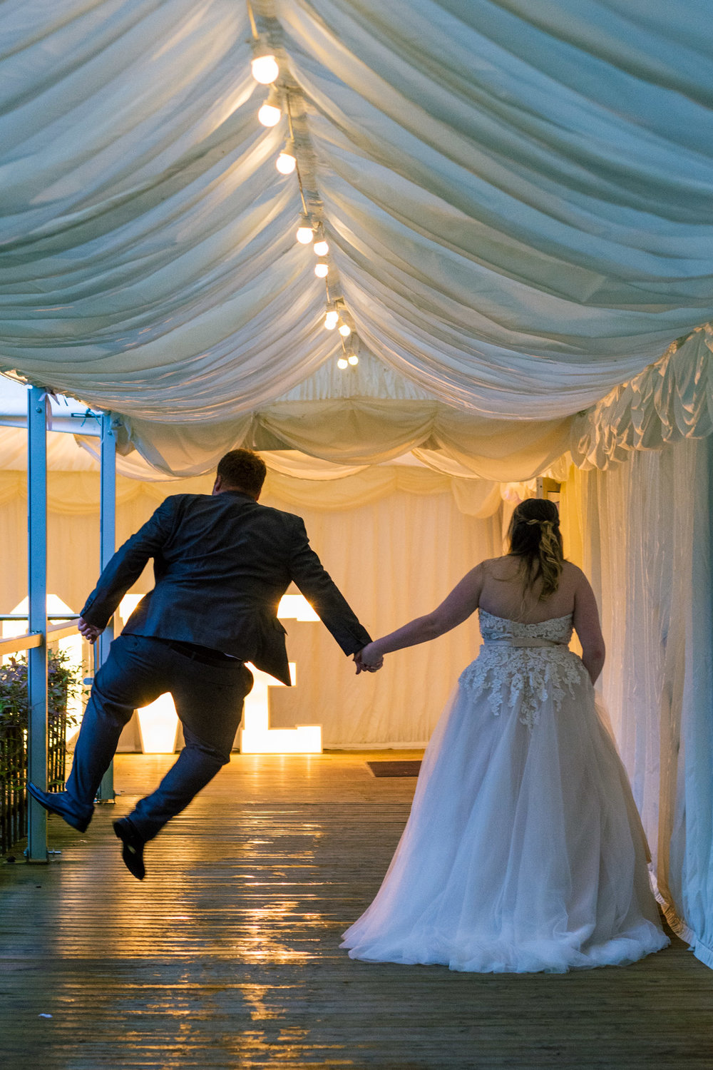 groom doing a cheeky move