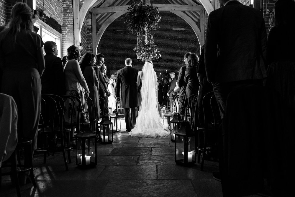 Bride and groom in their wedding ceremony