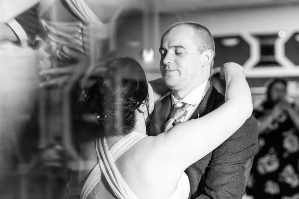 Bride and Groom's first dance - with added sparkles!
