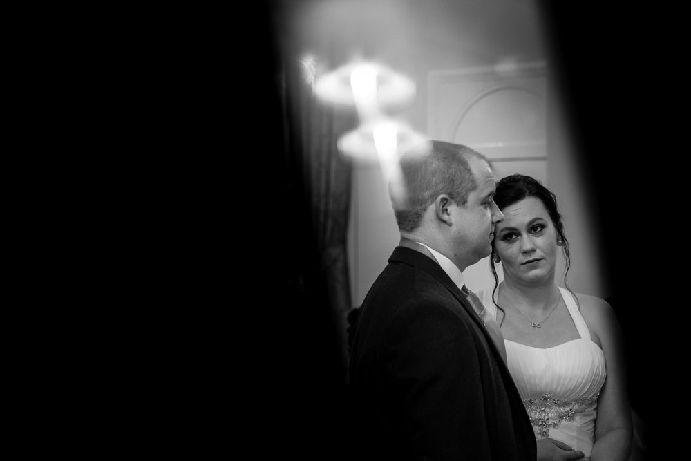 The look of love during the vows.