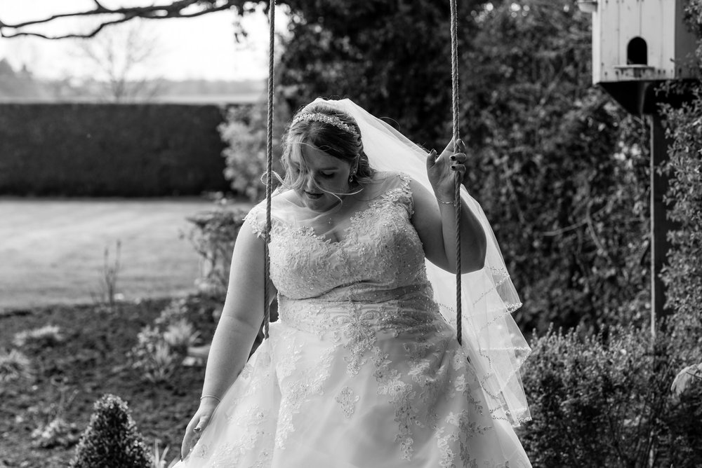 Bride on the swing