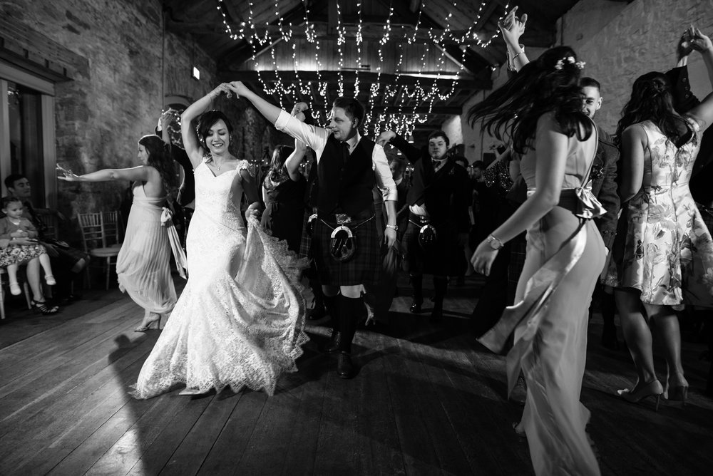 Bride and grooms first Scottish dance