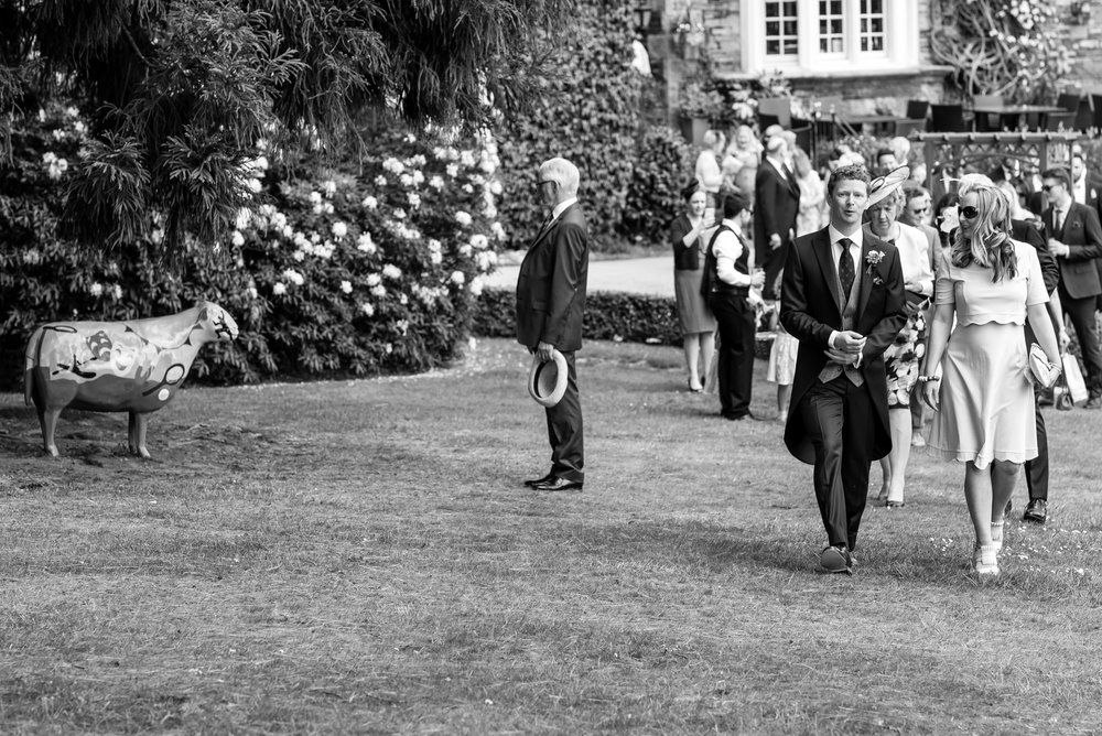 Groom and guests arriving