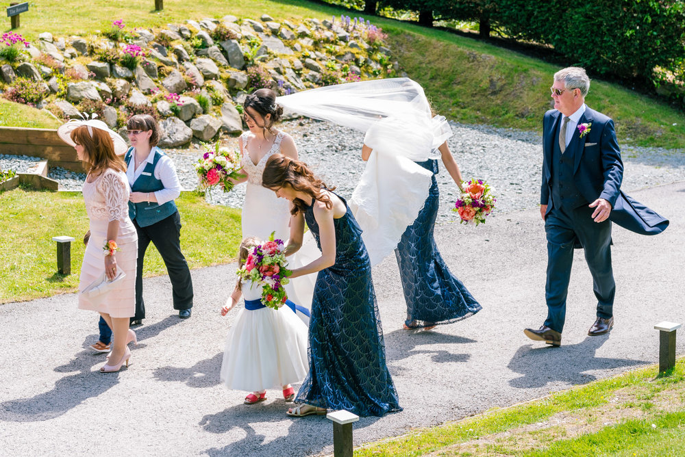 Bridal party making it's way