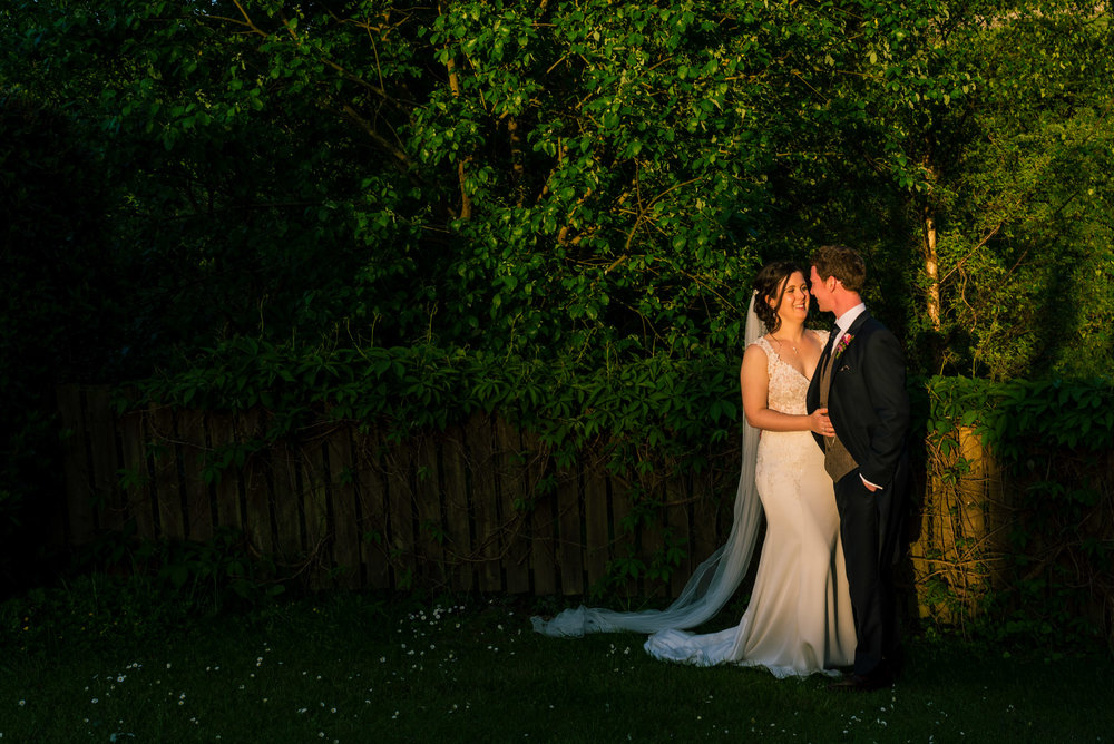 The happy couple in perfect light