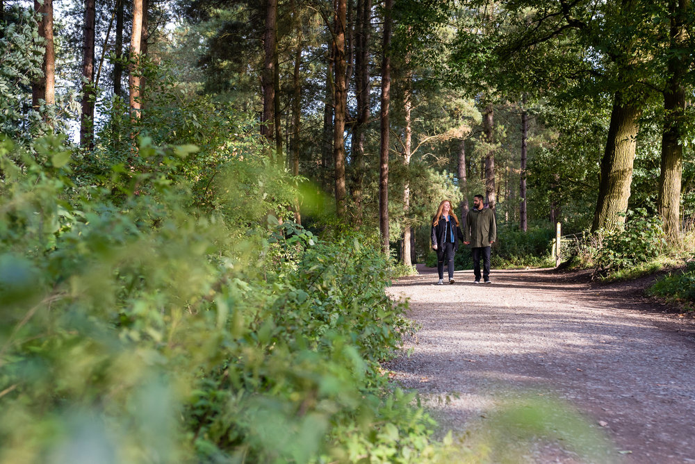 Couple on path Delamere Forest