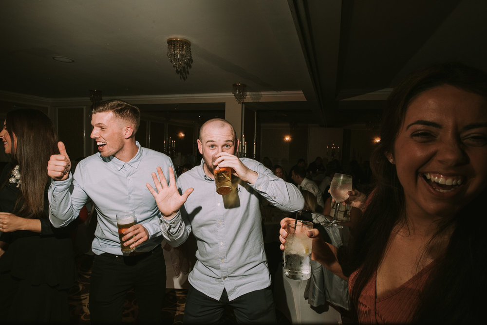 Drinking on the dance floor
