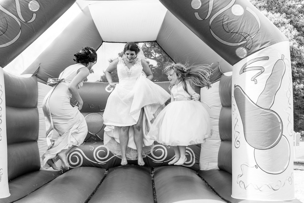 Bouncy Castle full of wedding guests