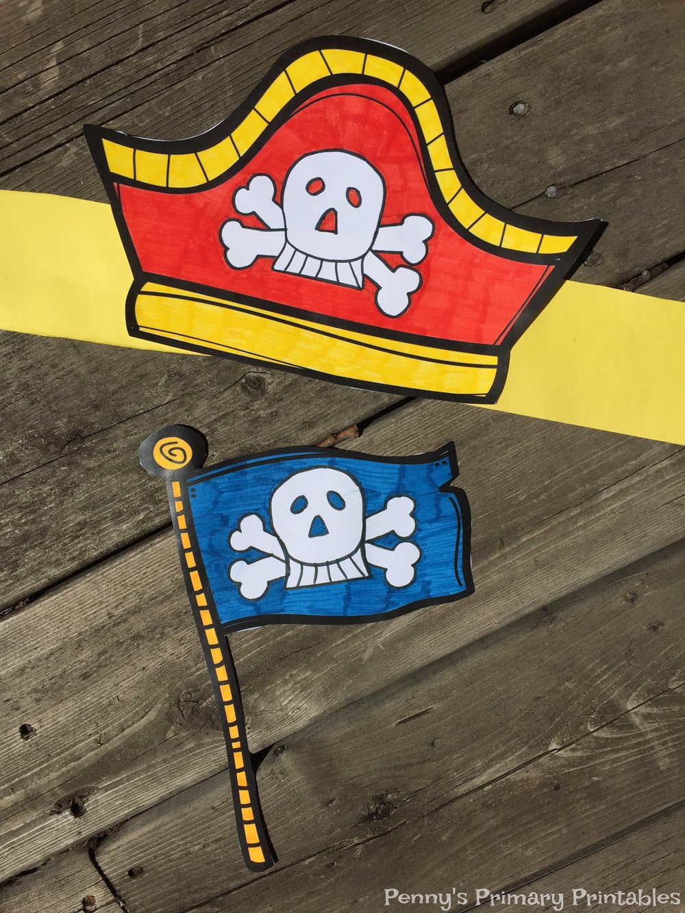 These fun printables are included in the set and can be used as part of an accompanying craft center. Once students decorate and cut out their hats and flags they can keep them for use in the dramatic play center. To keep the flag upright, first glue it onto a piece of sturdy paper before cutting.