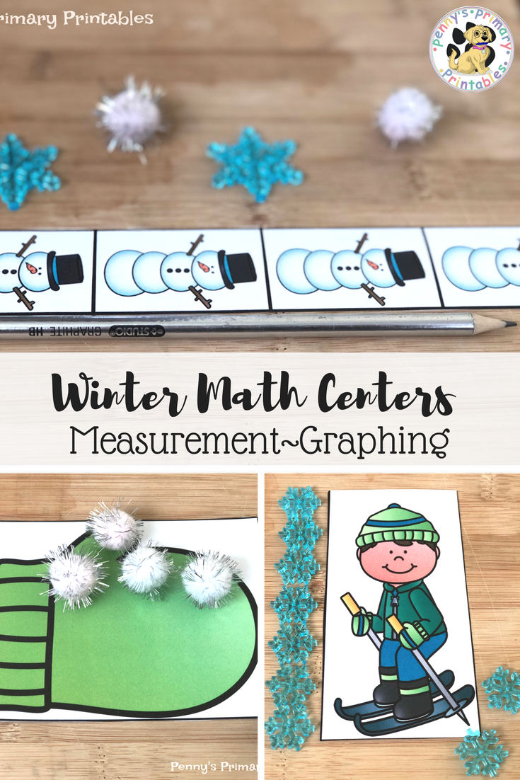 Kindergarten Winter Math Centers-Measurement