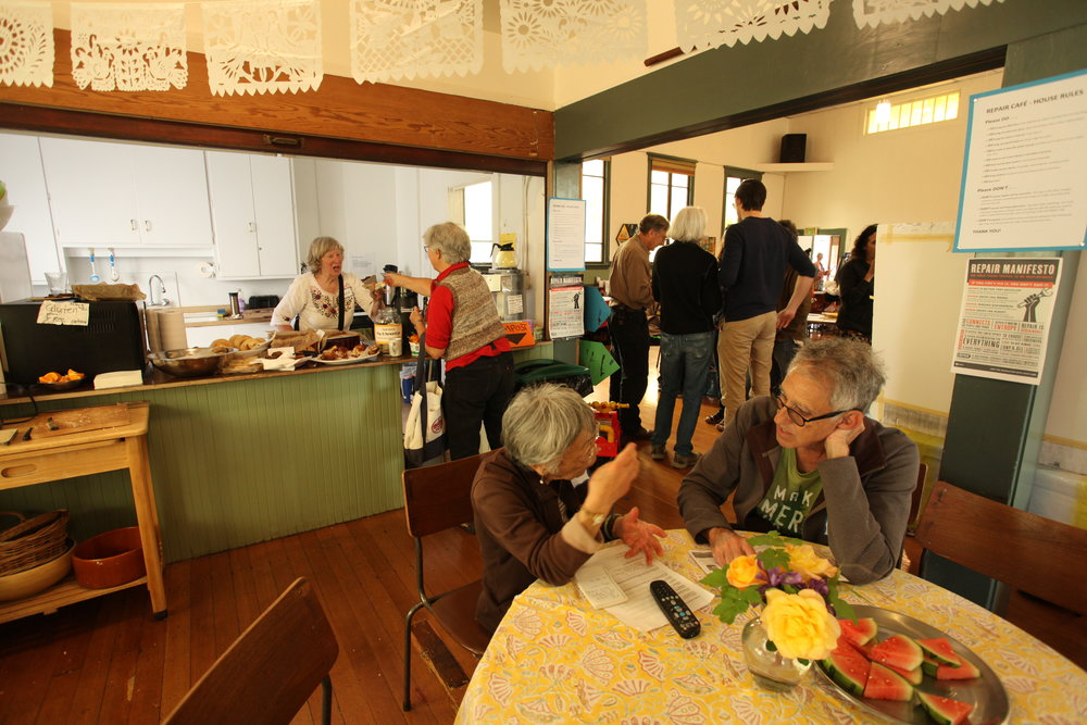 Transition Café featured conviviality, good food and a warm welcome.